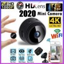 A9 Mini Camera 4K Full HD 1080P Cam App 150 Degree Viewing Angle Wireless WiFi IP Network Monitor Security Night Version Camera