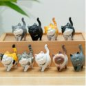 9pcs Cute Cat Desktop Decor Miniature Landscape Bonsai Ornament DIY Kitty